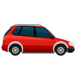 electric car on white background vector image