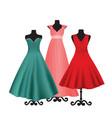elegant dresses on mannequins vector image vector image