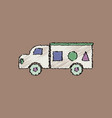 flat shading style icon kids truck silhouette vector image vector image