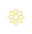 flower graphic design template isolated vector image vector image