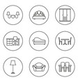 furniture line icon set vector image vector image