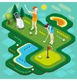 Golf Match People Isometric vector image vector image
