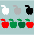 green red black grey white apple icon vector image vector image