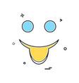 happy emoji icon design vector image vector image