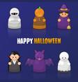 happy halloween cartoon set vector image vector image