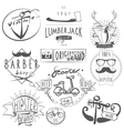 Hipster vintage labels set black vector image