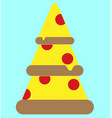 icon three pieces of pizza vector image vector image