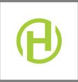 initials h circle logo abstract vector image vector image