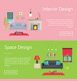 interior and space design vector image