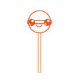 isolated lolly pop design vector image vector image