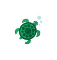 isolated turtle flat icon tortoise element vector image vector image