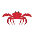 jolly red crab vacation at sea isolated vector image