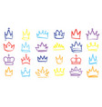 king sketch crown color elegant queen princess vector image vector image
