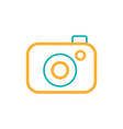line digital camera technology object to vector image vector image