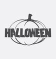 logo halloween pumpkin vector image