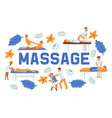 medical massage people poses set banners vector image vector image
