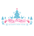 Merry Christmas with Icons Decorate vector image
