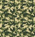 Military camouflage seamless pattern vector image vector image