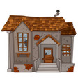 old house with ruined walls vector image vector image
