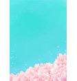 pink coral reef border with sea background vector image