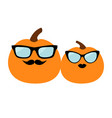 pumpkin family love couple happy halloween funny vector image vector image