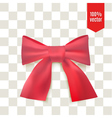 Realistic red bow Ribbon can be use for decoration vector image