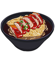 roast duck noodle preview vector image