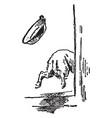 running dog vintage vector image vector image