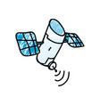 satellite cartoon doodle vector image vector image
