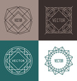 Set of Minimal Geometric Vintage Labels vector image