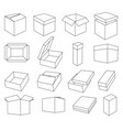 simple set box and crates related icons vector image