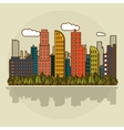 smart city graphic design vector image