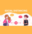 social distancing infographic poster vector image vector image