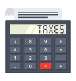 Tax Calculator Concept vector image vector image