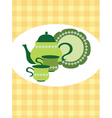 tea pot set vector image vector image