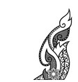 thai folk art design vector image vector image