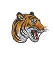 tiger head tattoo sketch vector image vector image
