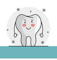 tooth funny cartoon vector image