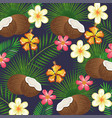 tropical garden with coconut vector image vector image
