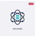 two color data science icon from general-1 vector image vector image