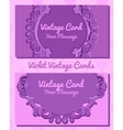 Two violet vintage horizontal business cards vector image vector image