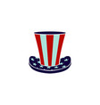 usa flag hat graphic design template isolated vector image vector image