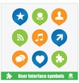 User interface symbols web flat style vector image vector image