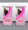 valentine roll up banner design vector image vector image