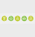 vegan healthy ecology bio emblem logo design vector image vector image