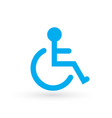 wheelchair handicapped or accessibility parking vector image