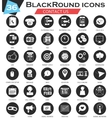 contact us circle white black icon set vector image