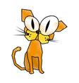 scribble funny cat cartoon vector image