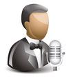 Singer icon vector image