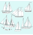 ShipsSet of sketches vector image